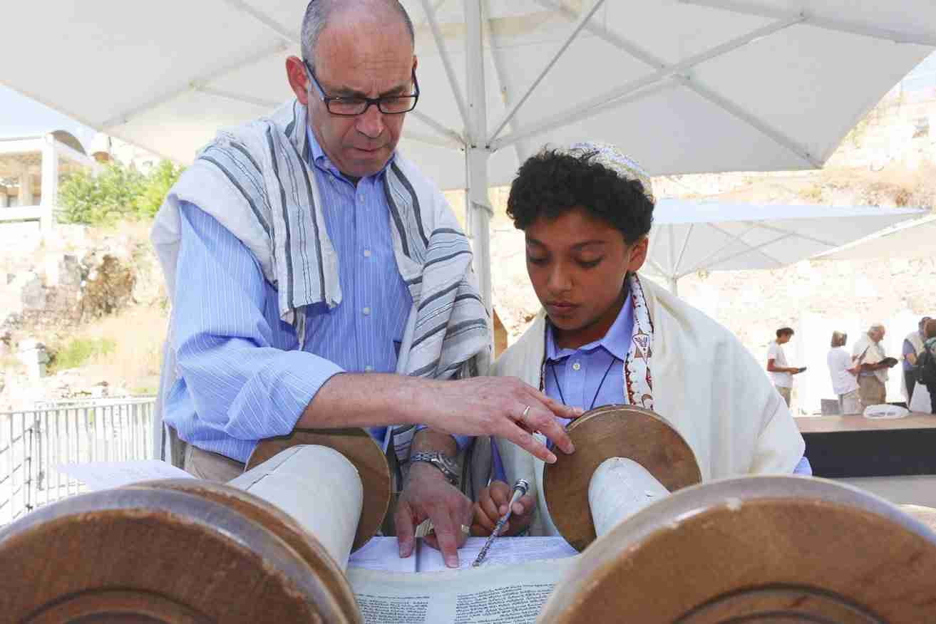 Bar Mitzvah at the Western Wall in Jerusalem