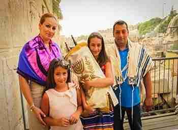 Bat Mitzvah tour Israel at the western wall