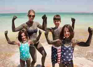 Family trips to Israel in The Dead Sea