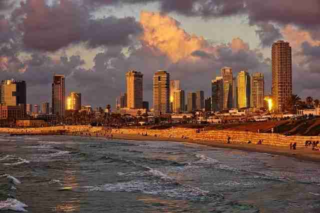 Tel Aviv, Israel at sunset