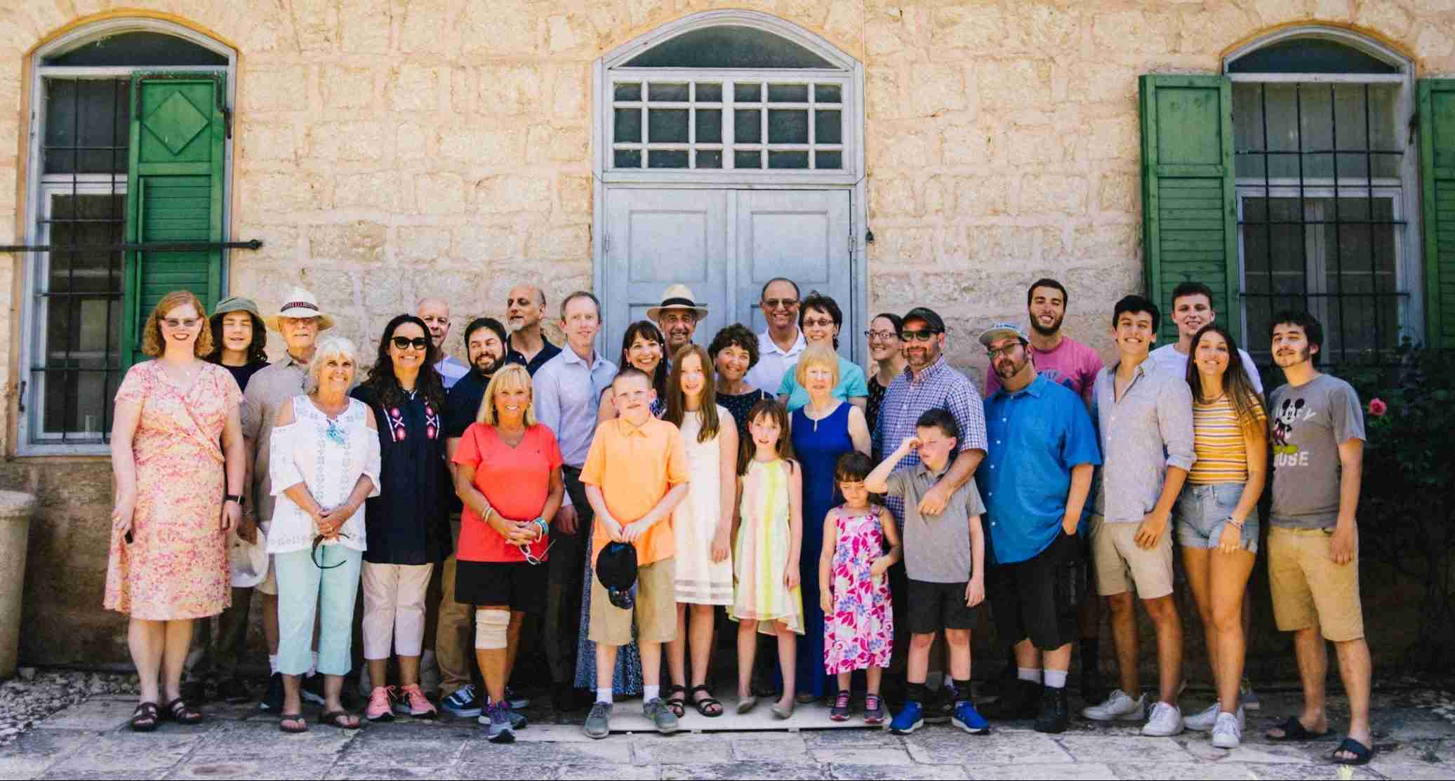The whole family participates in a Bat Mitzvah tour in Israel