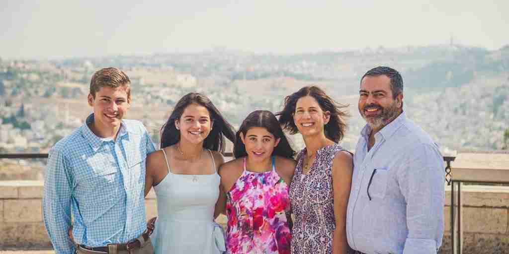 Family trips to Israel: The Goldman family on the promenade