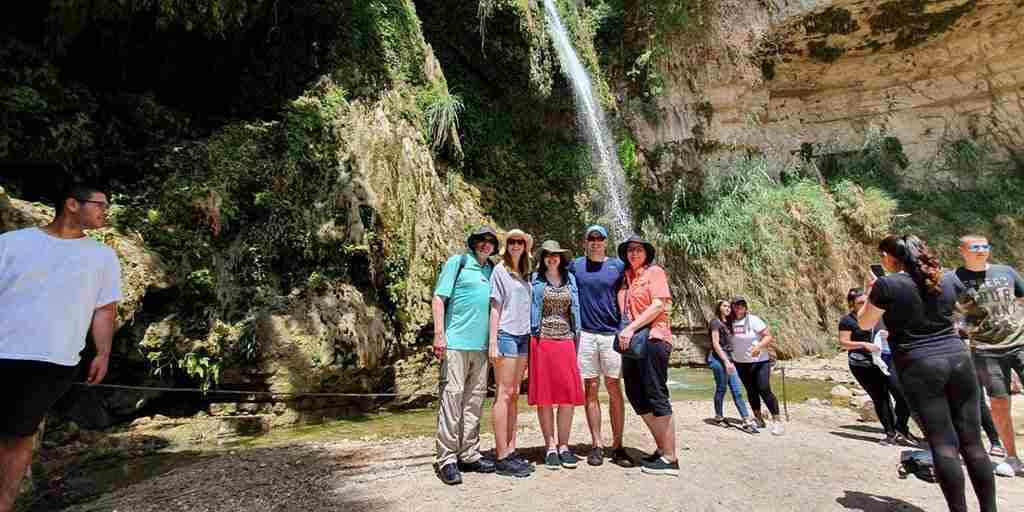 Things to do on a family trip to Israel: banias waterfalls